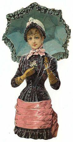 Vintage Die Cut Women~ Vintage Ephemera