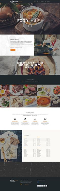 Template 57611 - Cafe Restaurant  Responsive Drupal Template