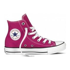 Shop the Converse Chuck Taylor All Star Cosmo Pink Hi Top Trainers. off your First Order. Converse All Star, Ladies Converse, Pink High Top Converse, Pink High Tops, Converse Chuck Taylor All Star, Ladies Shoes, Chuck Taylor Sneakers, High Top Sneakers, Free Uk