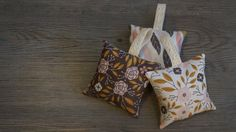 Lavender sachets set of three aromatherapy bags scented by Quiltly