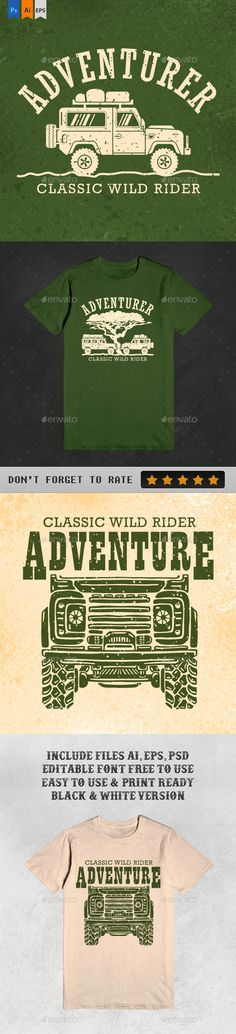3 Ultimate Adventure Tshirt illustration Design. Download: http://graphicriver.net/item/3-ultimate-adventure-tshirt/12749622?ref=ksioks