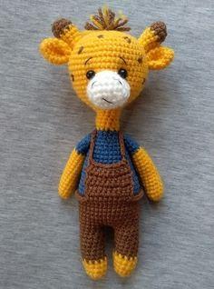 Вязаный жираф крючком Amigurumi Giraffe, Giraffe Crochet, Amigurumi Toys, Knit Crochet, Crochet Toys Patterns, Amigurumi Patterns, Stuffed Toys Patterns, Knitted Animals, Handmade Toys