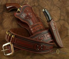 Cowboy Action Shooting Leather | This elegant rig is the perfect choice for your fine sidearm. Made to ...