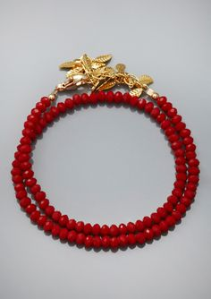 KATIE WALTMAN Double Row Leaf Bracelet