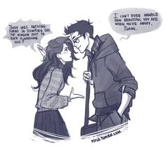 When angry James and Lily by *viria13 on deviantART