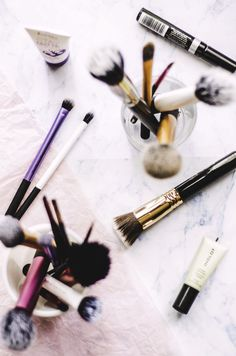Nay for more makeup brushes than makeup.