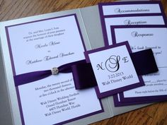 Glamourous Pocket Wedding Invitation in by decadentdesigns on Etsy, $5.00