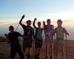 6.50am September 5th. Some of the A16 8000m Challenge Team pose for a photo on the summit of Mt Baldy - the first of 3 mountains climbed in one day for the Challenge. They had no idea of the thunder storms, LIGHTNING and flash floods they were about to encounter on San Gorgonio as the weather took a major turn for the worse! Congratulations to the team for getting down safe and thanks to everyone for their support! Epic day.