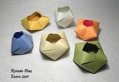 origami containers, favor boxes