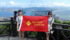 Mactron Tech Team At The Top of Mountain of Double Moon Bay