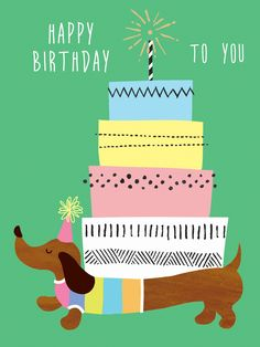 first birthday idea Birthday Wishes Cards, Happy Birthday Messages, Birthday Images, Birthday Quotes, Birthday Greetings, Happy Birthday Vintage, Happy Birthday Dachshund, Dachshund Art, Daschund