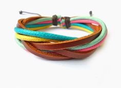 Adjustable leather bracelet fashion bracelet от braceletbanglecase, $3.00