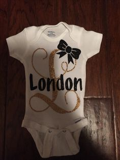 These baby onesies can be done in any color for only $14.00