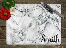 Personalized Glass Cutting Board, Wedding Gift for Newlyweds, Bridal Shower Gift, Bride Gifts, Last Wedding Gifts For Newlyweds, Newlywed Gifts, Personalized Wedding Gifts, Bridal Shower Gifts, Bridal Gifts, Font Styles Names, Birthday Presents For Friends, Glass Cutting Board, Cutting Boards