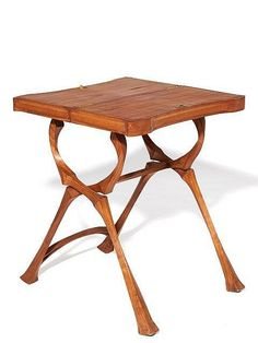 Eugne Gaillard Tea Table ca 1902 Mahogany brass