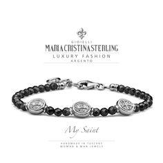 bracciale uomo my saint,argento made in tuscany,designed Alessandro magrino,