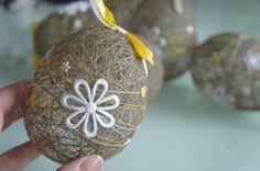 EASTER eggs Natural LINEN thread #Easter