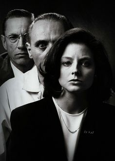 Scott Glenn, Anthony Hopkins, and Jodie Foster in The Silence of the Lambs