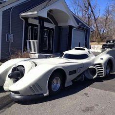 Batmobile in white