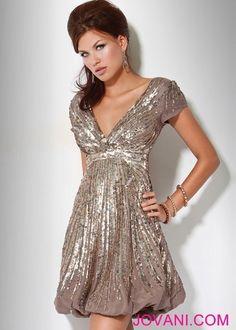 Wedding Want     http://www.jovani.com/short-cocktail-dresses/sequin-embellished-bubble-skirt-short-dress-158706-7678