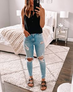 Fashion Mode, Teen Fashion Outfits, Look Fashion, Fashion Shirts, Casual Summer Outfits, Simple Outfits, Trendy Outfits, Cute Outfits For Teens, Casual Spring Outfits