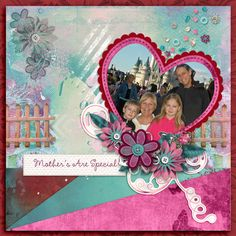 My layout features my daughter, grandchildren and myself at WDW. For my layout I used Love you Mom Page in a Pocket by Studio4 Designworks. http://www.godigitalscrapbooking.com/shop/index.php?main_page=product_dnld_info&cPath=29_164&products_id=31481