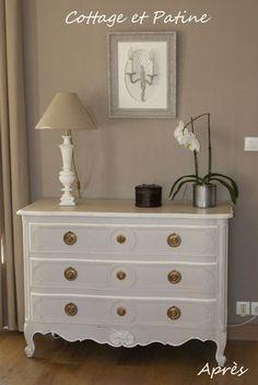 commode en merisier de style louis xv patin e bronze les patines d 39 agathe le bois d. Black Bedroom Furniture Sets. Home Design Ideas