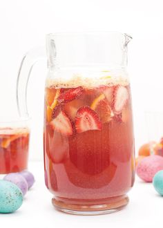 Whether you're hosting or heading elsewhere, make a pitcher of this Kid-Friendly Easter Punch for Brunch. Filled with fresh fruit, juice, and ginger ale, it will be a big hit with kids and adults alike.