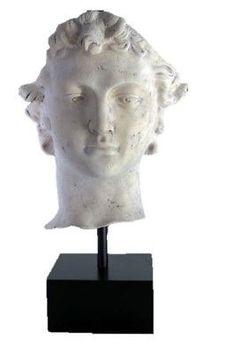 Roman-David-Head-on-Base-Looks-like-stone-Head-Bust-LM-Treasures