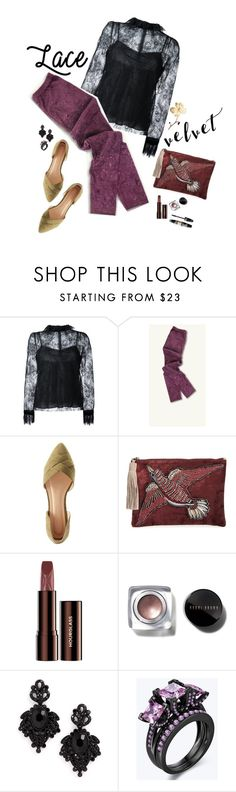 """Lace & Velvet"" by juliehooper ❤ liked on Polyvore featuring Philosophy di Lorenzo Serafini, Wild Diva, Sam Edelman, Max Factor, Bobbi Brown Cosmetics, Tasha, lace, velvet and polyvoreeditorial"
