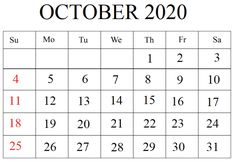 Free Editable October 2020 Calendar Word Calendar Printable, 2019 Calendar, Free Printables, October, Notes, Templates, Report Cards, Stencils, Template