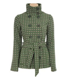 This Thyme Dot Wool-Blend Peacoat by Louie et Lucie is perfect! #zulilyfinds