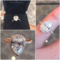 Pear shape diamond in rose gold!