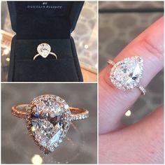 Pear shape diamond in rose gold!