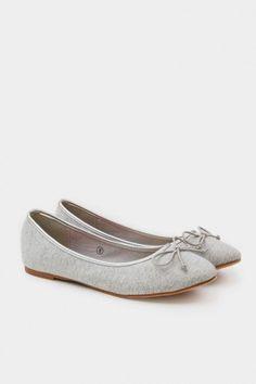 Simone Ballet Flats in Grey