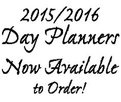 2015-2016 Day Planners Now Available for Pre-Order!