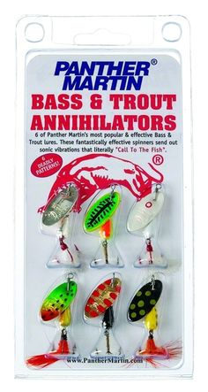 "Bass & Trout Kit -  These fantastically effective spinners send out sonic vibration that literally ""call to the fish."""