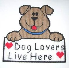 Image result for Free Plastic Canvas Dog Patterns