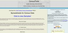 Census Tools has excel spreadsheet forms for recording census data. If you like forms, this is the place to go, http://www.censustools.com/  #gentipjar #genealogy #census