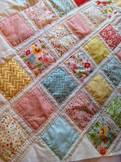 The Sweetest Thing charm pack lattice quilt