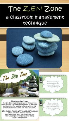 What is the Zen Zone? The Zen Zone is a behavior management tool and is a designated table in the classroom where you send a student to reevaluate behavior. At this table you will have a Zen jar (label included) with writing prompts (also included). Classroom Behavior, Autism Classroom, Classroom Environment, Classroom Design, School Classroom, Classroom Themes, Classroom Organization, Future Classroom, Mindful Classroom