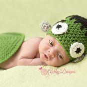 Frankenstein Baby Tushy Cover Set - via @Craftsy
