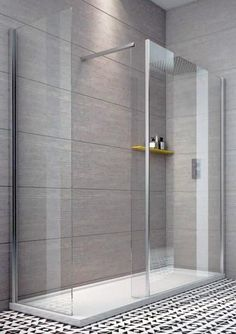 Indi 1400 x 700 8mm Walk in Shower Enclosure inc Tray and Waste - Aquabliss