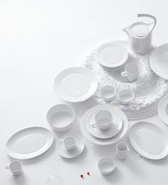 Furstenberg Aureole porcelain tableware white harlequin london