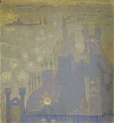 SONATA I (Sonata of the Sun) ALLEGRO (Sonata I) Tempera on paper. 1907, Druskininkai.
