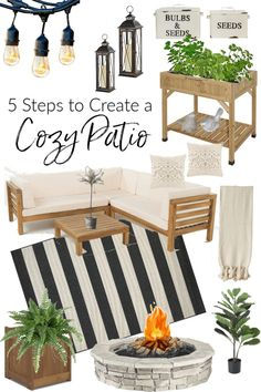 5 Elements to Create a Cozy Patio – Beauty For Ashes Do you want to create a cozy outdoor space but don't know where to start. I'm sharing how to create a cozy patio by adding 5 simple elements. Back Patio, Backyard Patio, Backyard Shade, Small Patio, Cement Patio, Flagstone Patio, Pergola Patio, Outdoor Spaces, Outdoor Living
