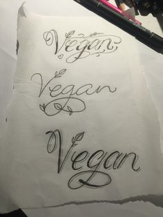 INSTAGRAM: jesssssssicat FACEBOOK: Jessicatladytattoos Script lettering vegan…