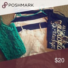 Aeropostale Camisoles In great condition, may be split up if you so choose:) Aeropostale Tops Camisoles