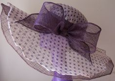 Kentucky Derby hat in layered plum and polkadot by daisyhere