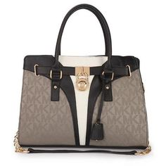 Perfect Michael Kors Logo Signature Medium Grey Totes.